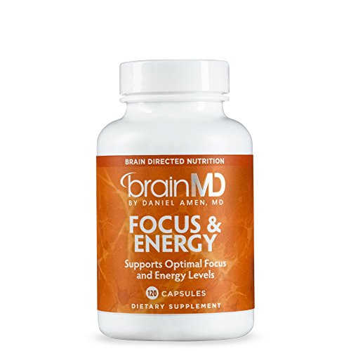 Dietary Support - Dr. Amen BrainMD Health Focus & Energy Dietary Supplement to Support Concentration and Focus, 120 capsules