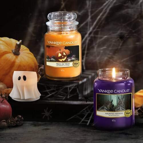 Haunted Hayride Duftkerze im Glas 623g Yankee Candle Classic Paraffinwachs///ätherische /Öle//Baumwolle
