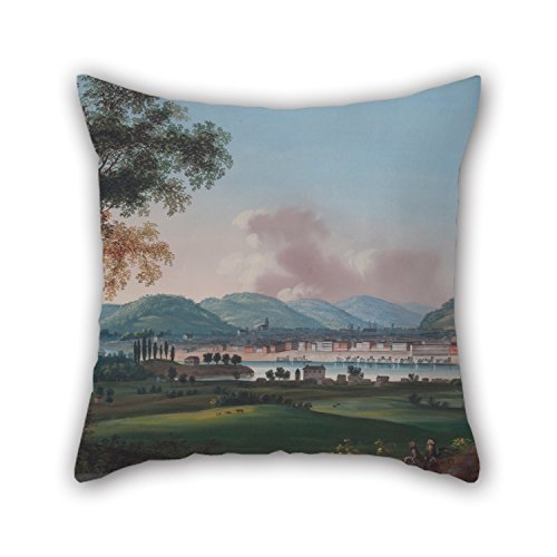18 x 18 inches / 45 by 45 cm oil painting John Caspar Wild - Cincinnati From Behind Newport Barracks cushion cases,2 sides is fit for home theater,dining room,bar,birthday,gf,boys (Cincinnati Reds Tire Cover compare prices)