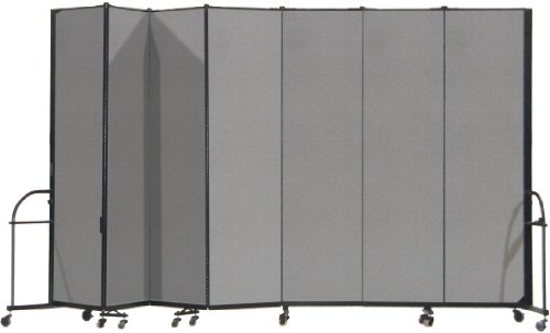 (Screenflex Heavy Duty Portable Room Divider (HFSL747-DG) 7 Feet 4 Inches High by 13 Feet 1 Inches Long, Designer Stone Fabric)