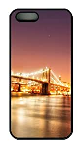 iPhone 5/5S Cases & Covers Brooklyn Bridge Night Design PC Case Cover Protection for the Apple iPhone 5/5s Black