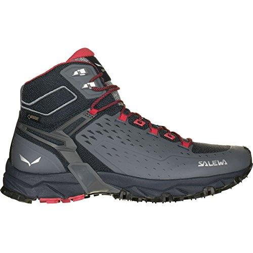 Salewa Women's Alpenrose Ultra Mid GTX Speed Hiking Shoe, Night Black/Mineral Red, 6.5