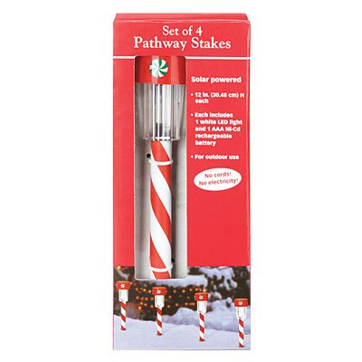 Candy Cane Solar Light Stakes in US - 8