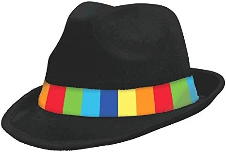 Party Accessory Rainbow Velour Fedora