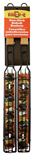 Camp Cooking Tips And Tricks - Use the right camp cooking tools like this Mr. Bar-B-Q, Inc. 06075X 2-Pack Kit, Single Kabob Baskets