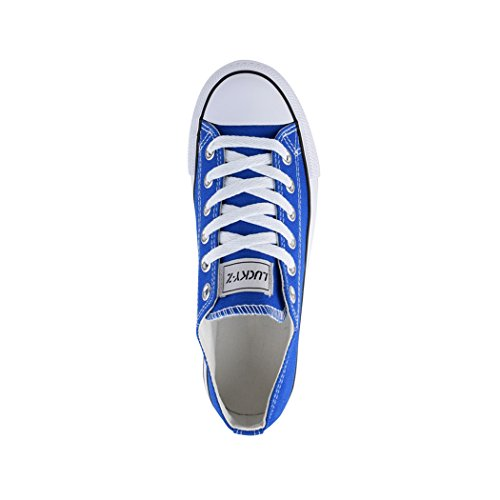 36 Blau Top Textil für Herren Turnschuh Schuhe Bequeme 46 Sportschuhe und Dk Sneaker Damen Elara Unisex Low waTO11