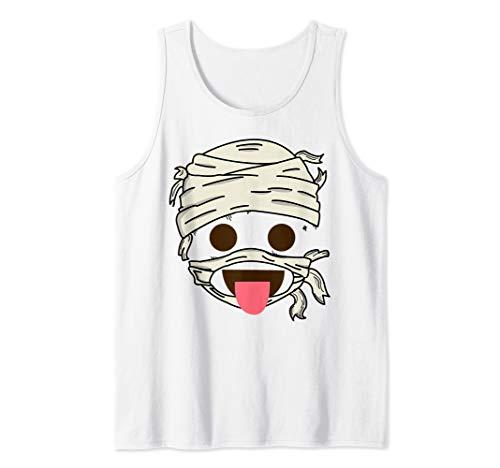 Mummy Food Savoring Tongue Face Emoji Smiley Halloween Gift Tank Top -