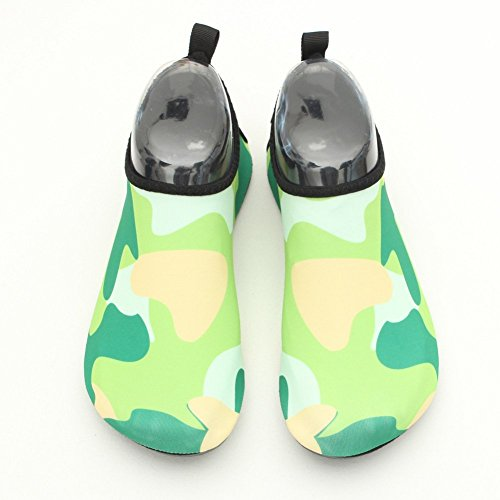 Eagsouni Unisex Barefoot Skin Water Shoes Aqua Socks for Beach Dive Surf Swim Yoga Green dT2zBdnY