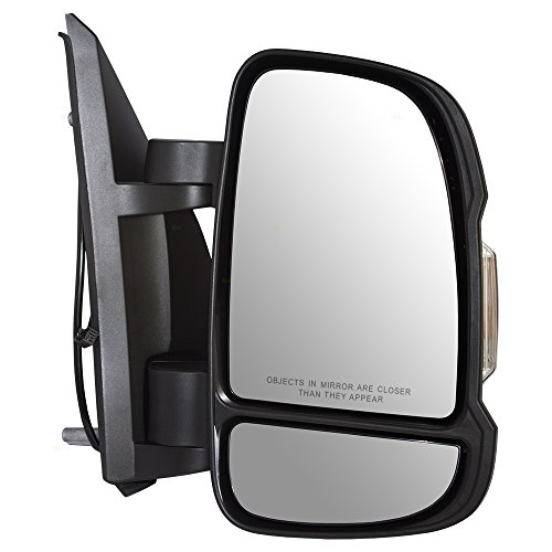Passengers Manual Side View Mirror w/Signal Temperature Sensor Replacement for RAM Promaster Van 5VE98JXWAD