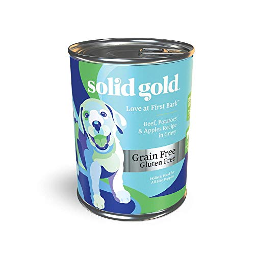 Solid Gold - Love at First Bark with Beef - Grain Free Wet Puppy Food - 13.2-oz Can (6Count) 13.2 Ounce Puppy Food