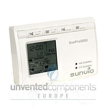 Sunvic SunPro 2000 - Termostato para calderas (2 canales, programación de 7 días,