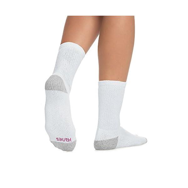 Hanes Women's Cushioned Crew Athletic Socks, 10-Pack