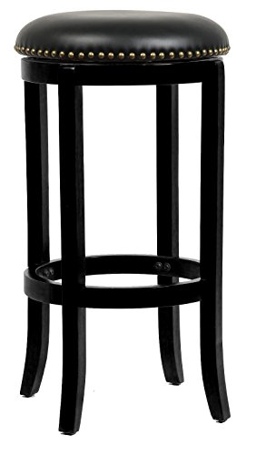 29 in. Cordova Swivel Stool – Black