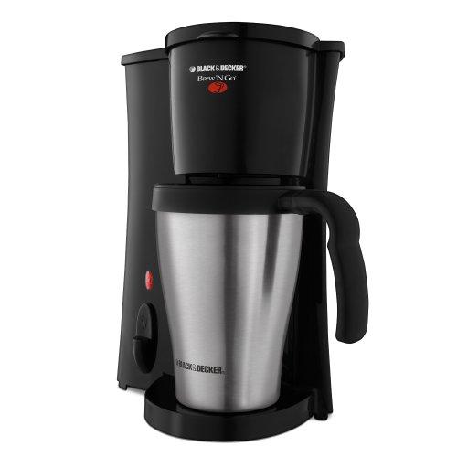 BLACK+DECKER DCM18S Brew 'n Go Personal Coffeemaker with Travel Mug, Black/Stainless Steel by Black & Decker (Image #1)