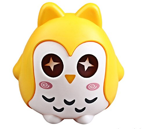 TP7 Yellow Zero Owl Shape Piggy Bank Coin Money Box Saving Pot Decoration Kids - Acrylic Shape Award