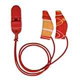 Ear Gear - Hearing Instrument Protection - Mini Corded Orange/Red (Fits hearing instruments 1'' - 1.25'')