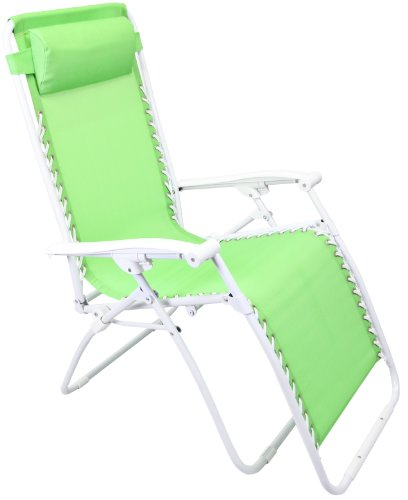 Jordan 3K-GRAVGRGRN Light Green PVC Fabric Chair with White Frame, 18-Inch by 19-Inch by 44-Inch