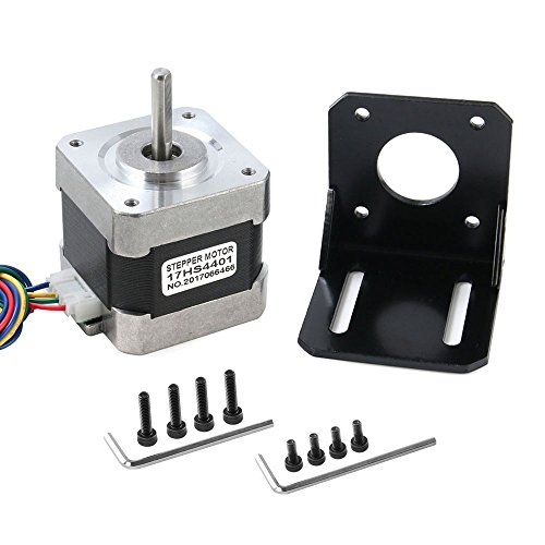 Stepper Motor, Nema 17 Stepper Motor 4-Lead 1.8 Deg 40N.cm Holding Torque 1.7A 42 Motor with Motor Mounting Bracket and Screws for 3D Printer/CNC by Beauty Star