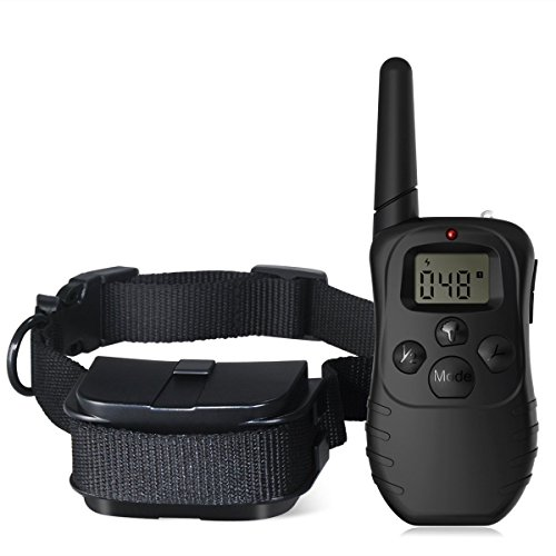 Commart Remote LCD 100LV 300M Electric Shock Vibrate Pet Dog Training Collar Waterproof Shipping From US
