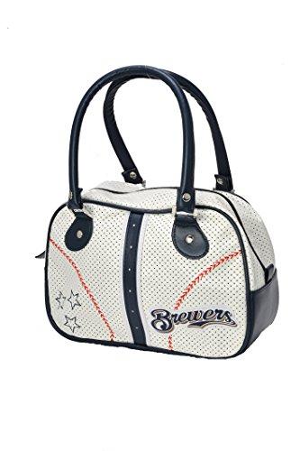 MLB Milwaukee Brewers Ethel Bowler Handbag (Baseball White Brewers Milwaukee)