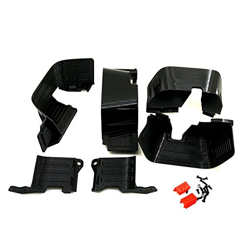 Front / Rear Chassis Mudguard Fenders,Dirt Dust Resist Mud Guard for 1/10 Axial SCX10 II 90046 90047 RC Car