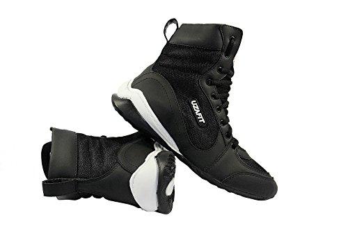 Uzafit Chicago Bodybuilding Gewichtheben CrossFit Boxer Schuh Unisex Sneaker Schwarz