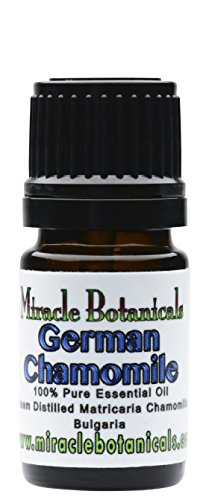 Miracle Botanicals German (Blue) Chamomile Essential Oil - 100% Pure Matricaria Chamomilla - 5ml or 10ml Sizes - Therapeutic Grade 5ml