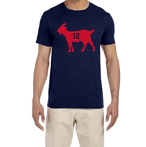 Deetz Shirts Navy New England Brady Goat T-Shirt
