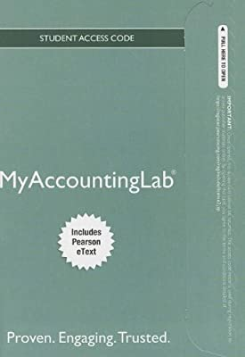 NEW MyAccountingLab with Pearson eText -- Standalone Access Card -- for Horngren's Financial & Managerial Accounting (MyAccountingLab (Access Codes))