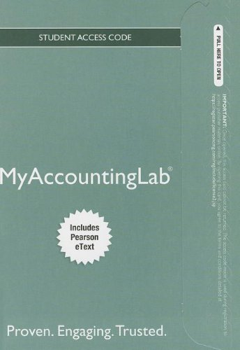 NEW MyLab Accounting with Pearson eText — Standalone Access Card — for Horngren's Financial & Managerial Accounting (MyAccountingLab (Access Codes))
