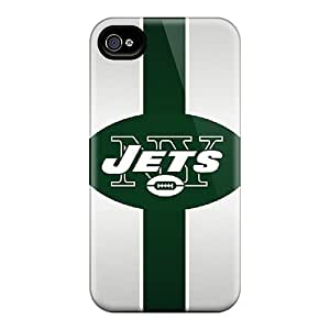 MansourMurray Iphone 4/4s Shock Absorption Hard Phone Cases Provide Private Custom Attractive New York Jets Series [OWp3274EyvI]