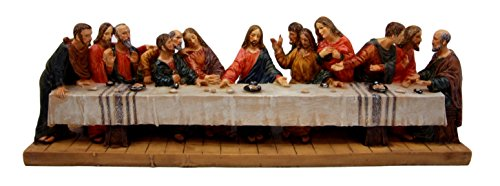 Da Vinci's The Last Supper Of Jesus and Disciples Decorative Figurine 12.25