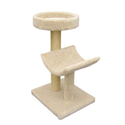 Bed and Cradle Sisal Scratching Post Parts Color: Brown, Poles Color: Light Grey, My Pet Supplies