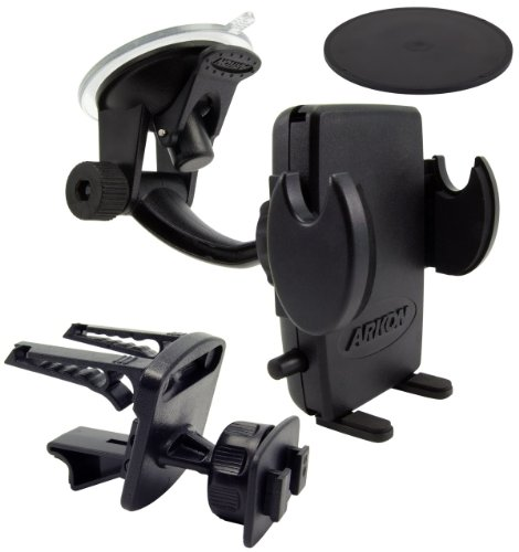 (Arkon Car Phone Holder Mount for iPhone X 8 7 6S Plus 8 7 6S Galaxy Note Retail Black)