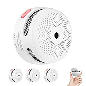 X-Sense Mini Smoke Alarm, 10-Year Battery Fire Alarm Smoke Detector with LED Indicator & Silence Button, Conforms to…