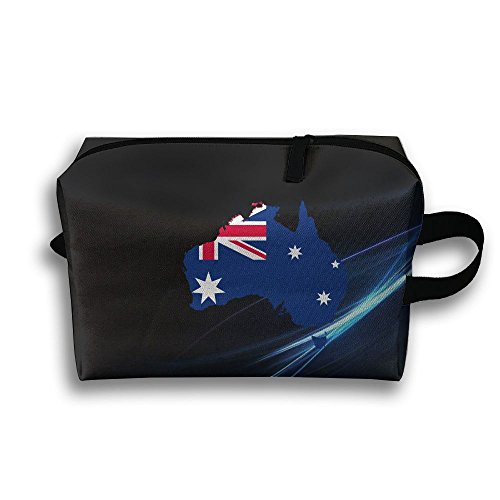 Australia Flag Map Portable Multifunction Large Travel Cosmetic Pouch Bag Travel Cosmetic - Flagship Maps