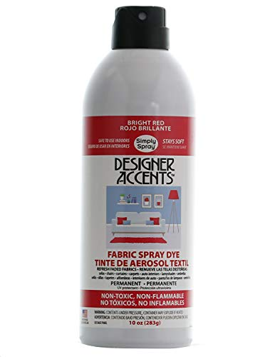 Simply Spray Designer Accents Upholstery Fabric Spray Dye Bright Red (Single Can)