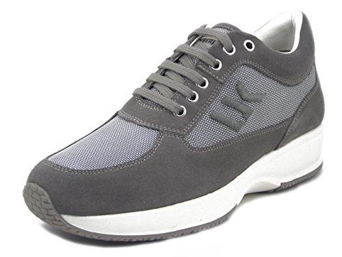 Tessuto Lumberjack Sneaker Sottopiede In Sm01304 Grigio E Uomo Estraibile Camoscio X6ngpTx