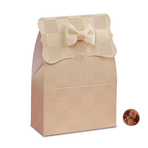 Pearl Ivory Embossed Paper - Pearl Ivory Embossed Tab Top Box | Quantity: 25 | Width: 1 1/2