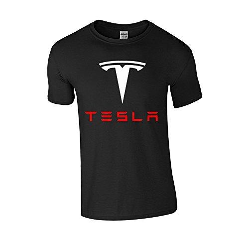 Technik Apparel Tesla Adult Crewneck Short-Sleeve T-Shirt (Medium)