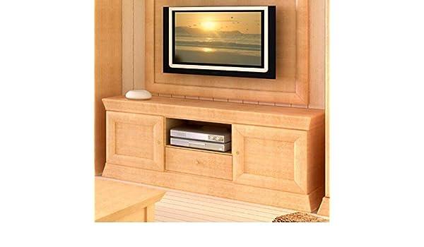 Soma - Mueble bajo para televisor (Cuadrado, Madera de Pino Maciza, 164 x 64 x 46 cm), Color Miel: Amazon.es: Hogar