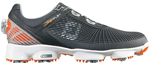 Closeout Athletic Shoes (FootJoy HyperFlex Grey/Orange Closeout BOA Golf Shoes - 10 D(M))