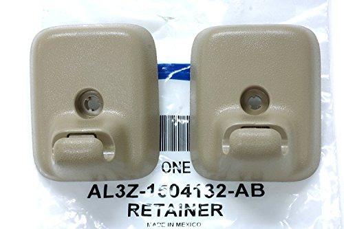 (2009-2014 Ford F-150 Sun Visor Holder Clip Retainers Camel Tan OEM AL3Z1504132AB)