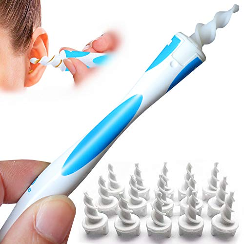 q Grips Earwax Remover – Soft Silicone Ear Wax Removal Tool q-Grips Ear Wax Remover kit with 16 Replacement Heads Safe…