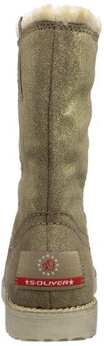 s.Oliver Casual, Botas de Nieve para Mujer Beige - Beige (KHAKI/GOLD 708)