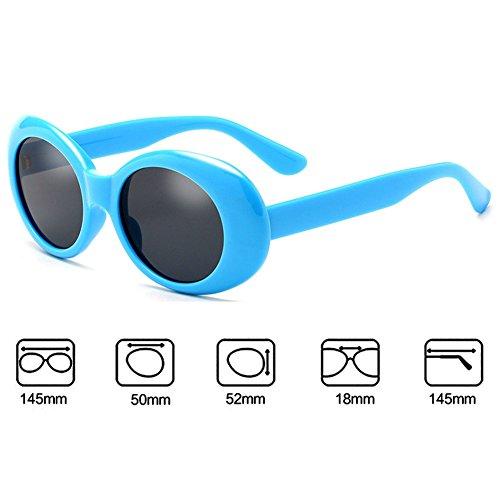 Clout Goggles Retro Hombres Gafas Mujeres UV400 Juleya Oval de C5 sol W48nzT