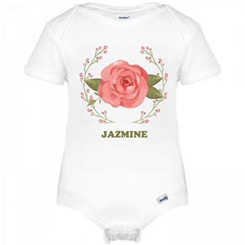 Jazmine Spring Pink Floral Outfit: Infant Gerber Onesies (Jazmine Outfit)