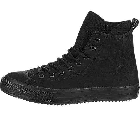 Converse Womens Chuck Taylor All Star Waterproof Leather High Top Black/Black/Black Sneaker - 11.5 Men - 13.5 Women
