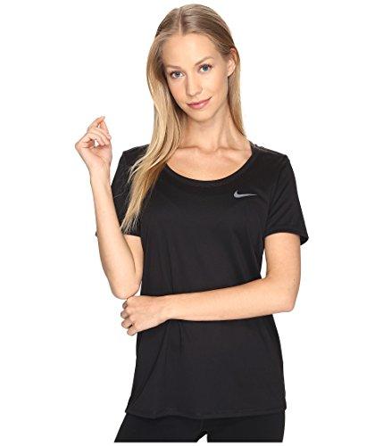 NIKE Womens Dry Training T-Shirt, Black/White, X-Small