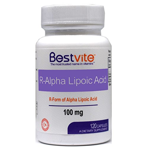 R-Alpha Lipoic Acid 100mg (120 Capsules) - No Stearates - No Flow Agents